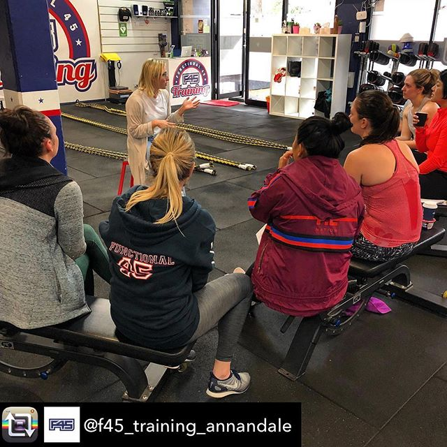 Talking all things GUT HEALTH @f45_training_annandale yesterday.  We spoke about the amazing functions of the digestive system & the sports performance benefits of looking after your guts 🥝🍓🏋🏻♀️ Thanks for having me!