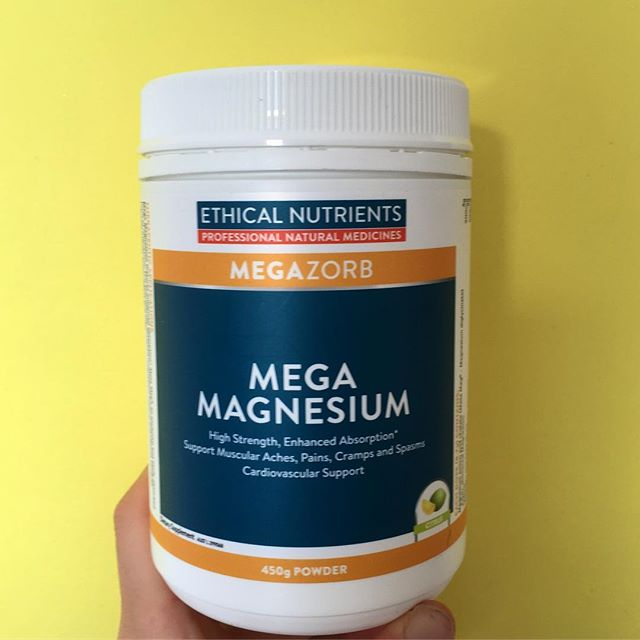 MAGNESIUM // Clinical trial evidence has shown Mg to be useful in reducing dysmenorrhea (period pain). Magnesium is a muscle relaxant, reducing cramps, improving blood flow and aiding in sleep!  Keep in mind not all supplements are created equal! Ethical Nutrients (a retail range available from health food stores and some chemists) use Magnesium Bisglycinate in there Mg supplements the most absorbable form and they won't upset your stomach like some other cheaper brands will.  300mg twice daily 🌟🌟🌟