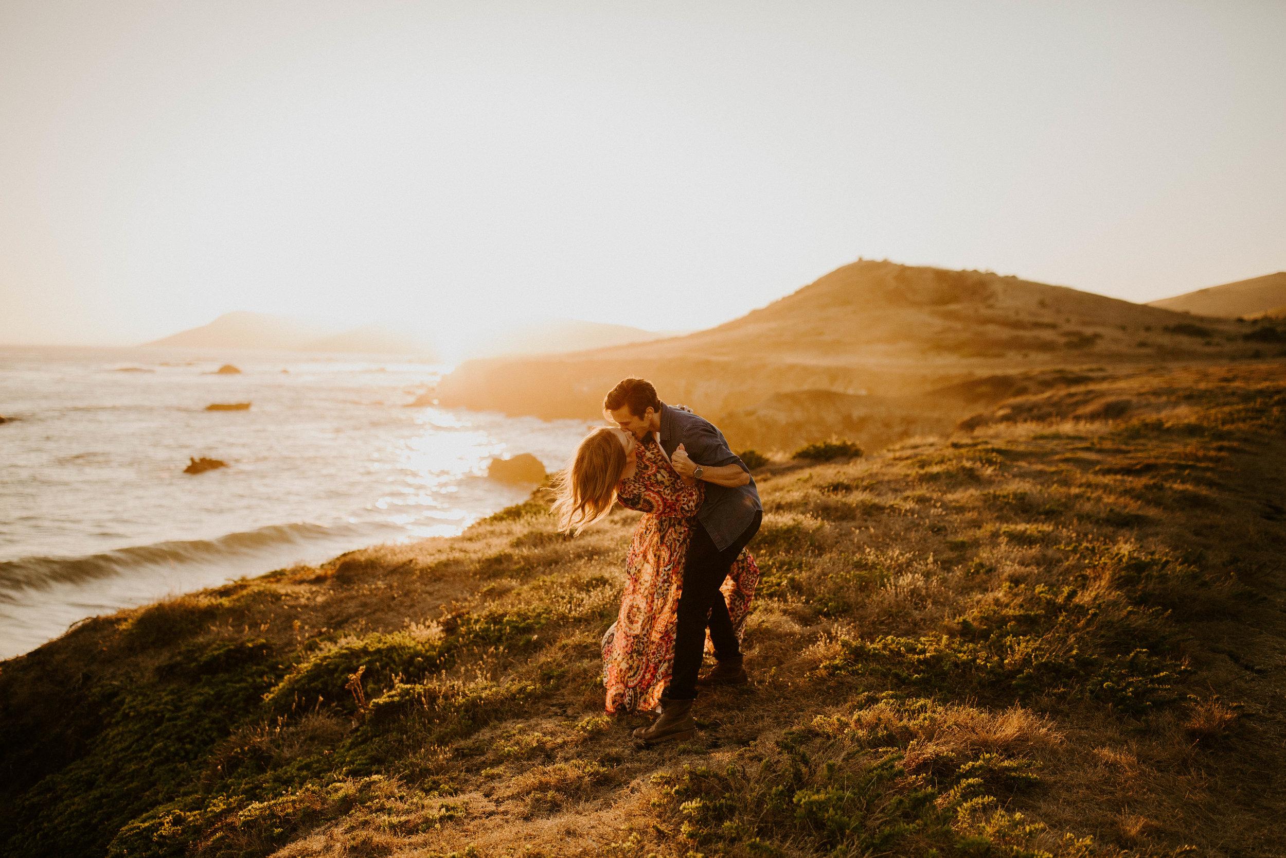 California beach engagement session