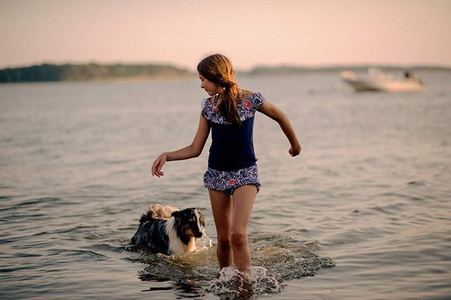 Moment parfait 🐶🌊🌸✨ #our_every_day_moments #momwithcameras #letthekids #sunshinecoast #sunset #seaside #lifeatthebeach #doggiestyle #capecod #australianshepherd #doglife #doglover #running #thebeach #hapinesss #thepursuitofjoy