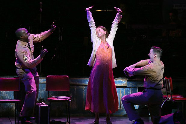 Joshua Henry, Sutton Foster & Colin Donnell in Roundabout Theatre Company's 2014 Tony-Nominated Broadway production of  Violet.