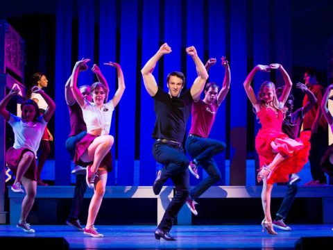 """Aaron Patrick Craven as Johnny Castle leading the 2017-2018 National Tour of """"Dirty Dancing: the Classic Story On Stage""""."""