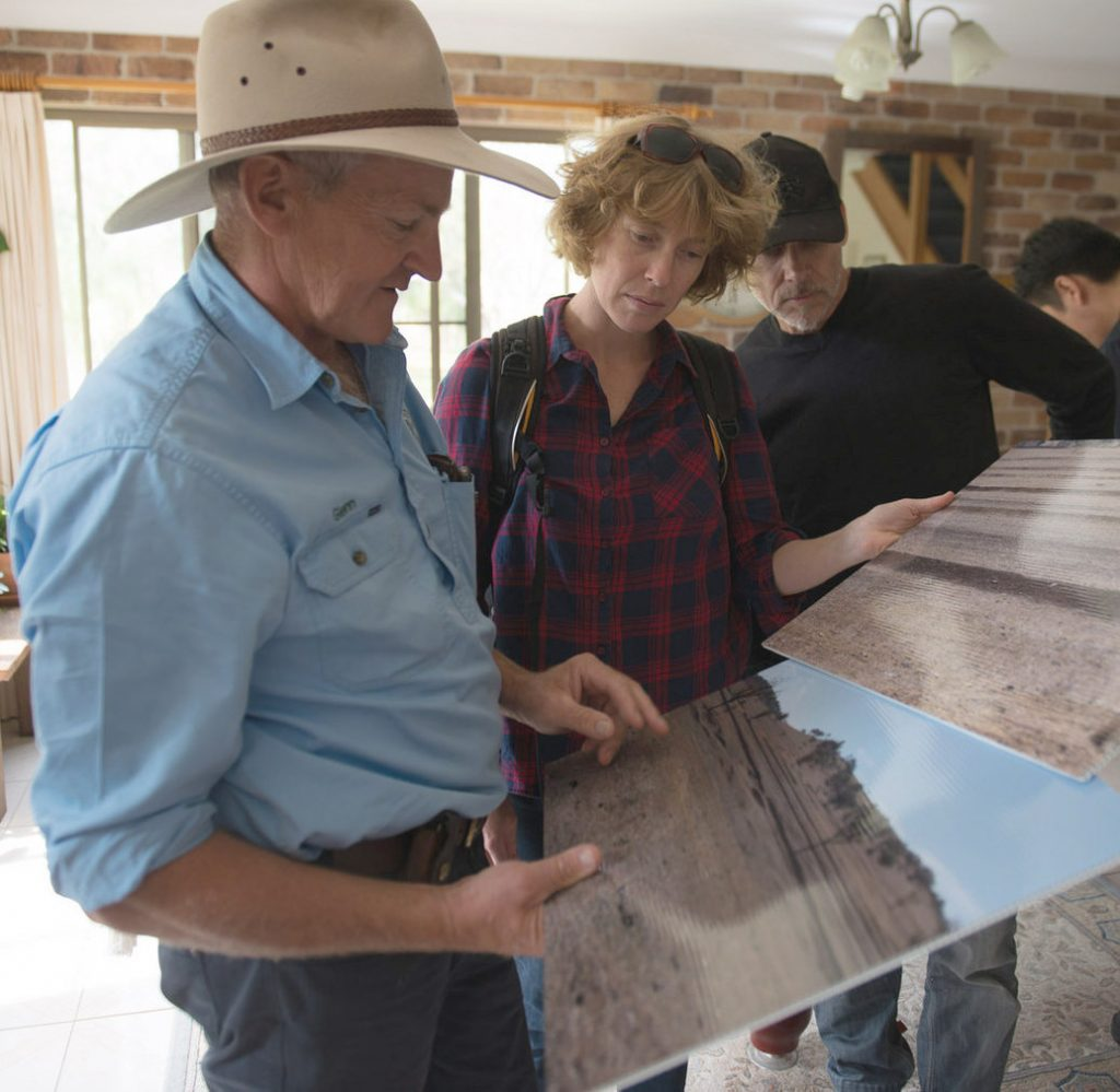 Glenn Morris shows us historic images of Billabong, the property now under his regenerative management