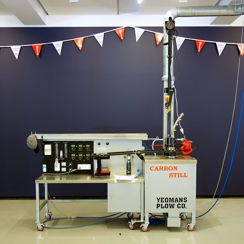 Yeomans Carbon Still installed at Monash University Museum of Art