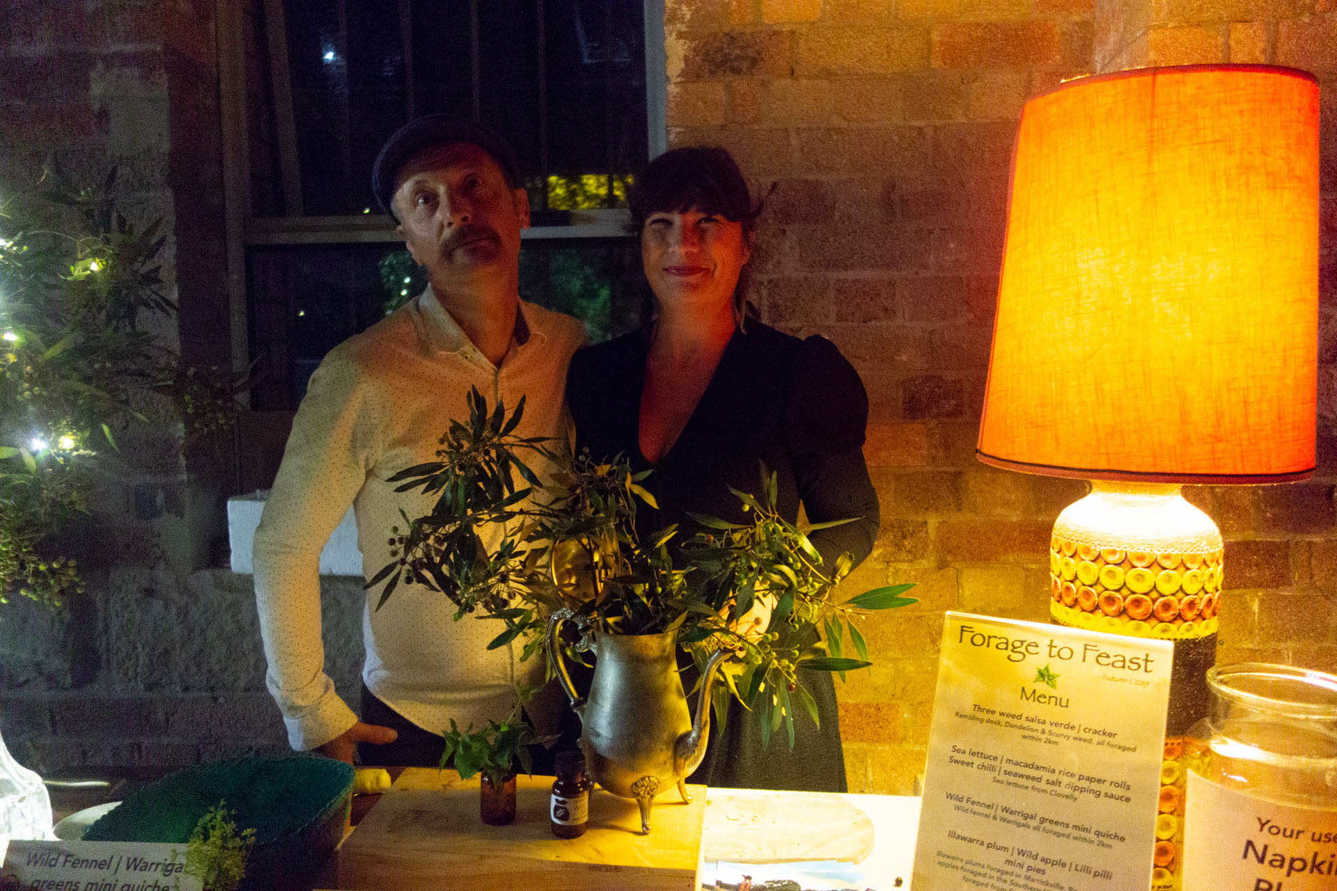 and thankyou to these two beautiful people for the delicious food from Forage to Feast, Diego Bonetto and Marni Fox.