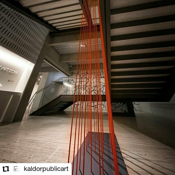 #Repost @kaldorpublicart about ksca student Ian Milliss' installation at agnsw. This one's been on a very long journey! • • • • • • To celebrate 50 years of #MakingArtPublic, we've commissioned four contemporary artists who have been directly involved with or inspired by our projects. Today we feature #IanMilliss and his innovative and self-referential new work at the @artgalleryofnsw.   Milliss' 'Natural Parallels 2' refers to a period of transition that occurred for him at the time of the early Kaldor Public Art Projects, wherein his focus shifted from conventional art-making to a socially and politically engaged practice. Milliss has since attributed this acute awareness and exploration of space to the creation of his original work 'Natural Parallels' in 1969 - originally installed shortly after #WrappedCoast at Little Bay.  Image 1: John Gollings #kaldor50