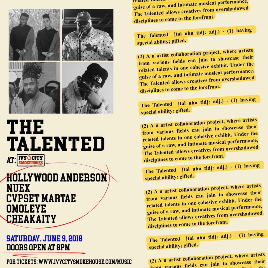 HOLLYWOOD SHOW FLYER.