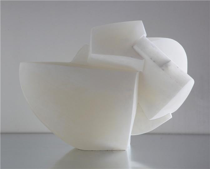 Alicia Ehni, KM 245 P.H., 2007, carved alabaster, 16.8 x 15.5 x 10.5 in