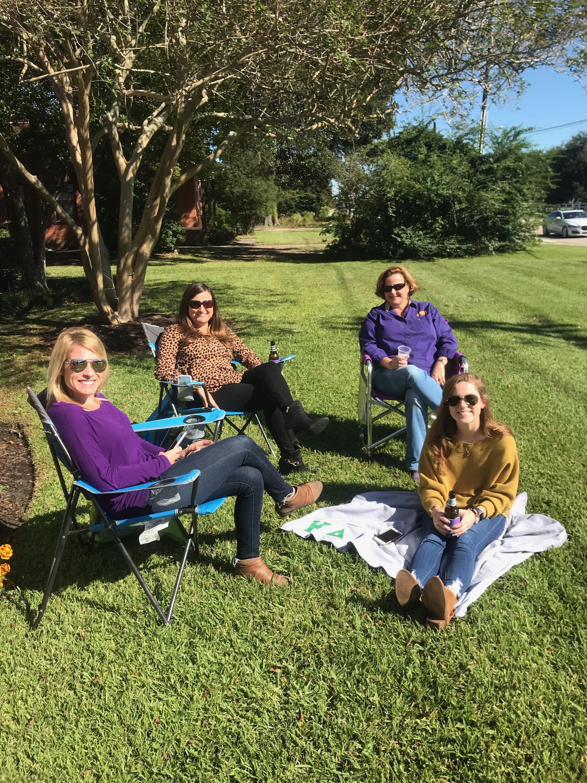 2018 Staff Tailgate-Megan, Donna, Taylor W, AMT.JPG