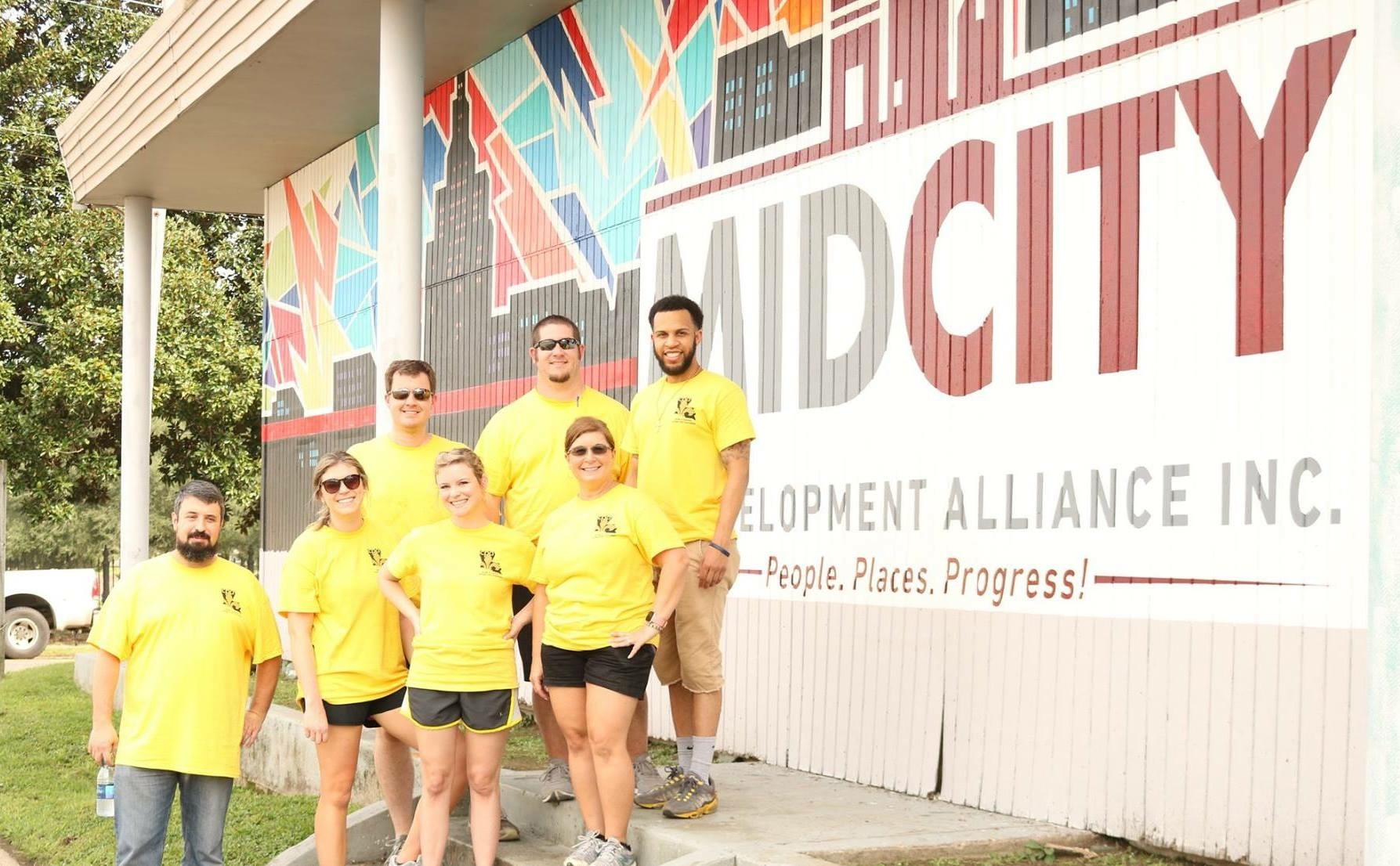 first annual LCPA Day of Service by volunteering at the Mid-City Redevelopment Alliance.