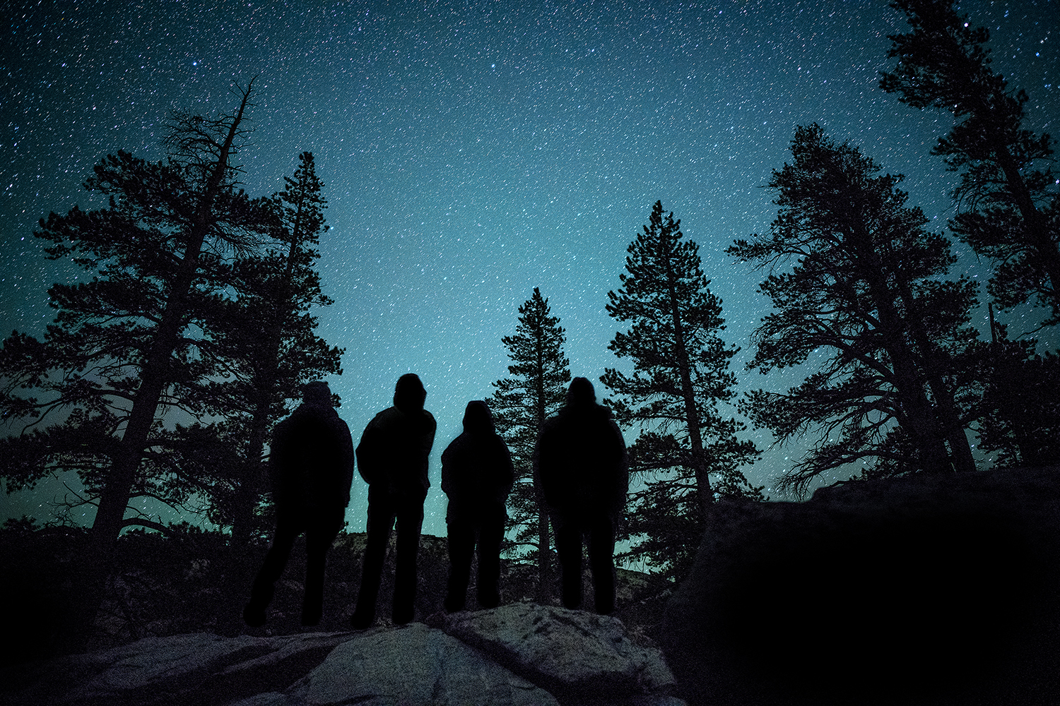 Yosemite Pilgrimage participants dazzled by the night sky, photo by Yosemite photographer-in-residence  Ian Momsen .