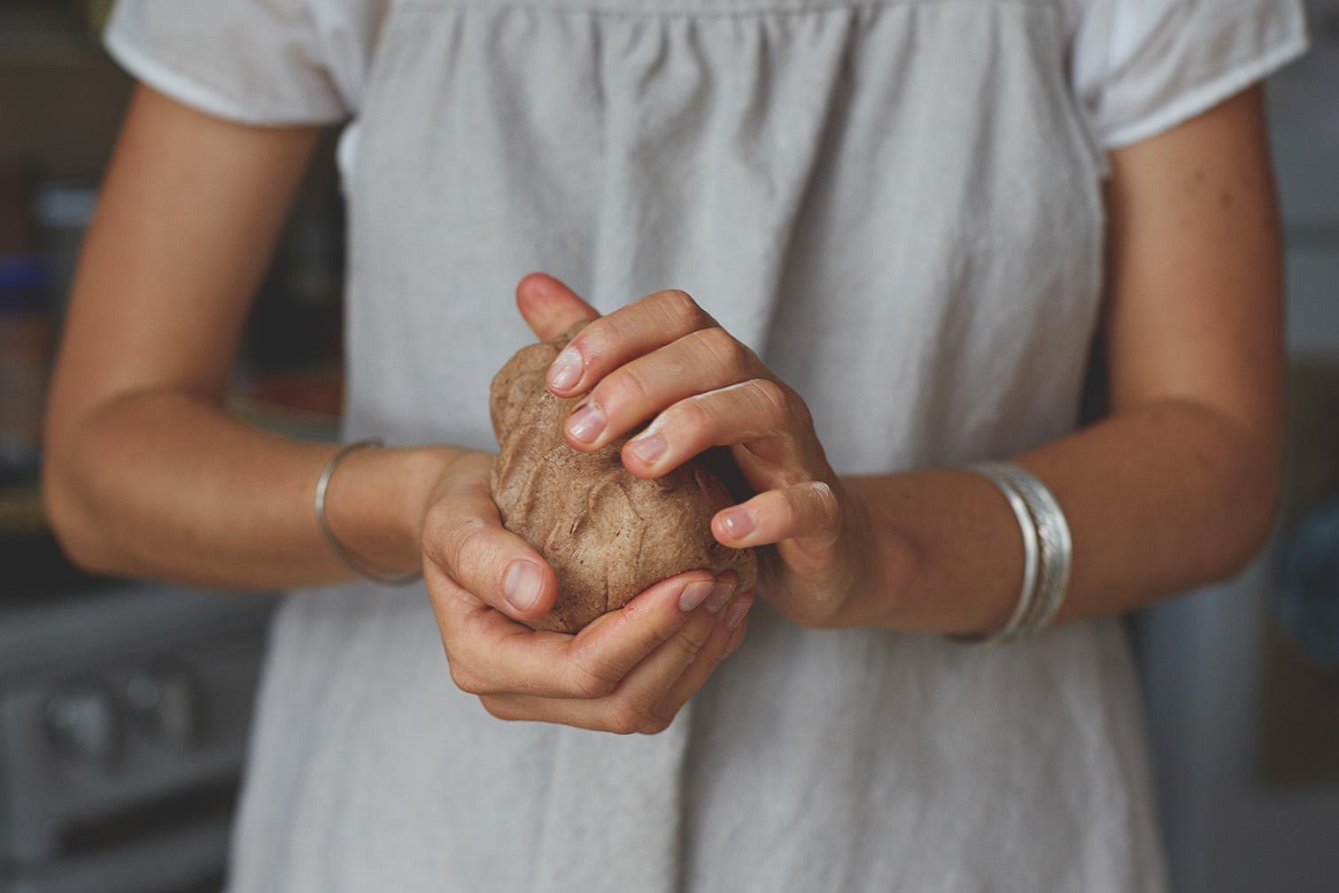 photo of acorn dough, by Daniel Dent