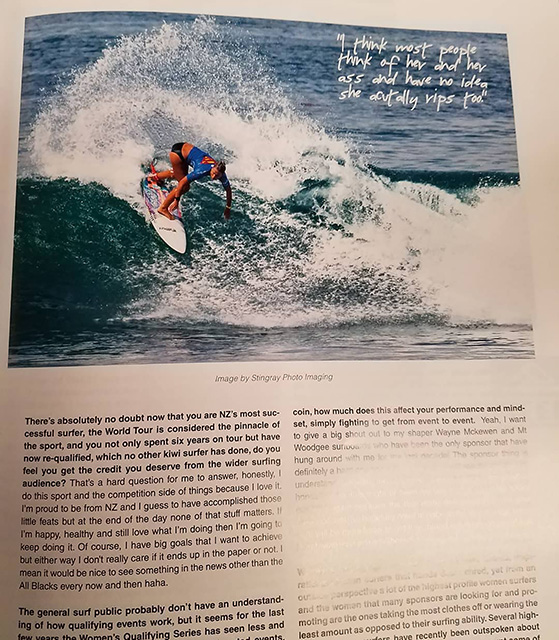 My photo in the January/February2018 issue of New Zealand Surfing Magazine