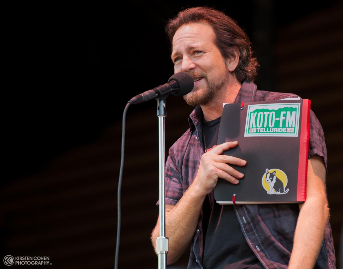 Eddie Vedder of Pearl Jam during their 2016 performance.