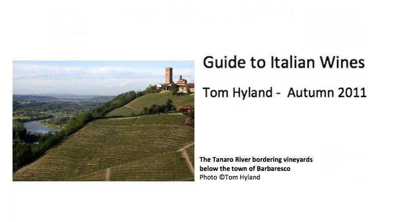 GUIDE TO ITALIAN WINE - Tom Hyland - Barbaresco 2008