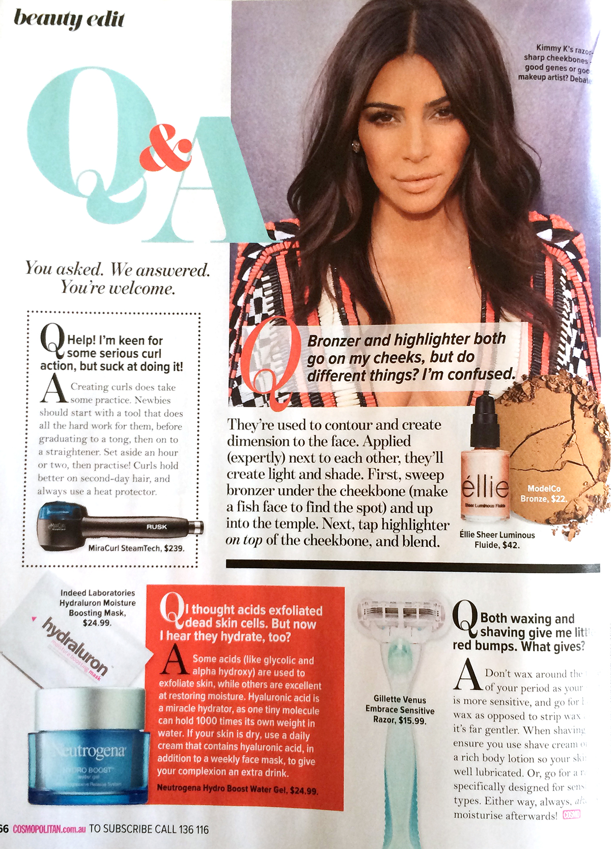 Here is the Sheer Luminous Fluide in Gleam featured in December's issue of Cosmopolitan! Kimmy K loves it too ;)