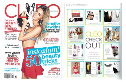 February 2013 Cleo Australia | Product placement for Lash Republic