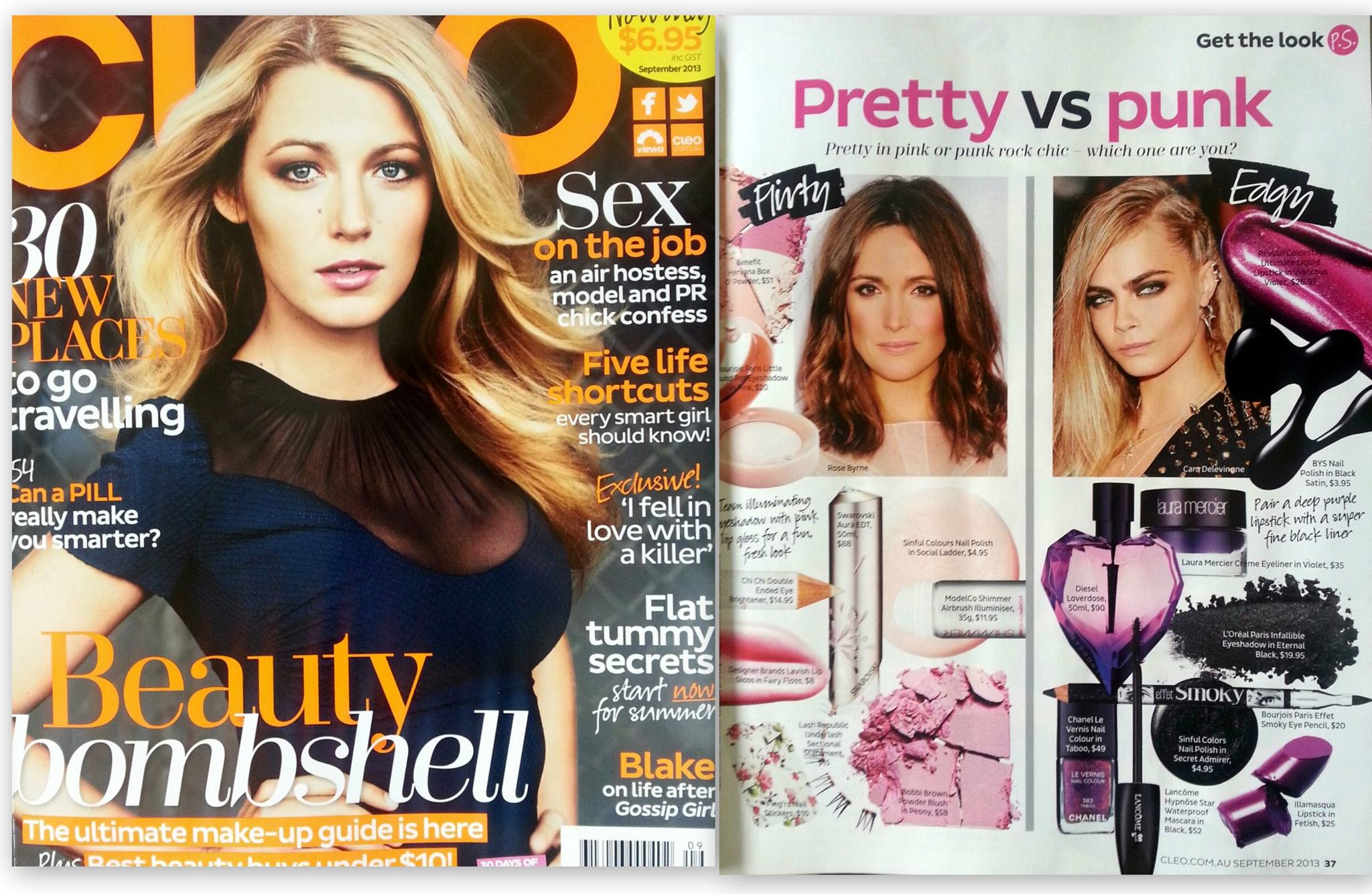 September 2013 Cleo Australia | Product placement for Lash Republic