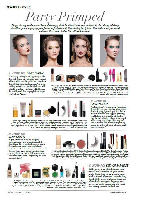 M2Woman Magazine October 2012 | Product placement for Lash Republic