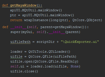 Reading the UI file with PySide2 and QT