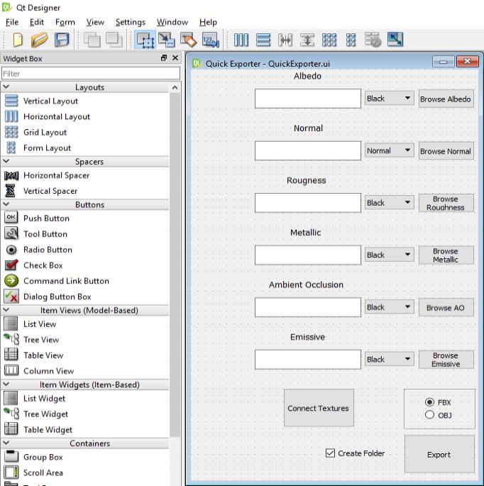 QT's Designer program