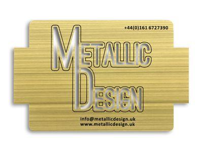 Gold brushed card