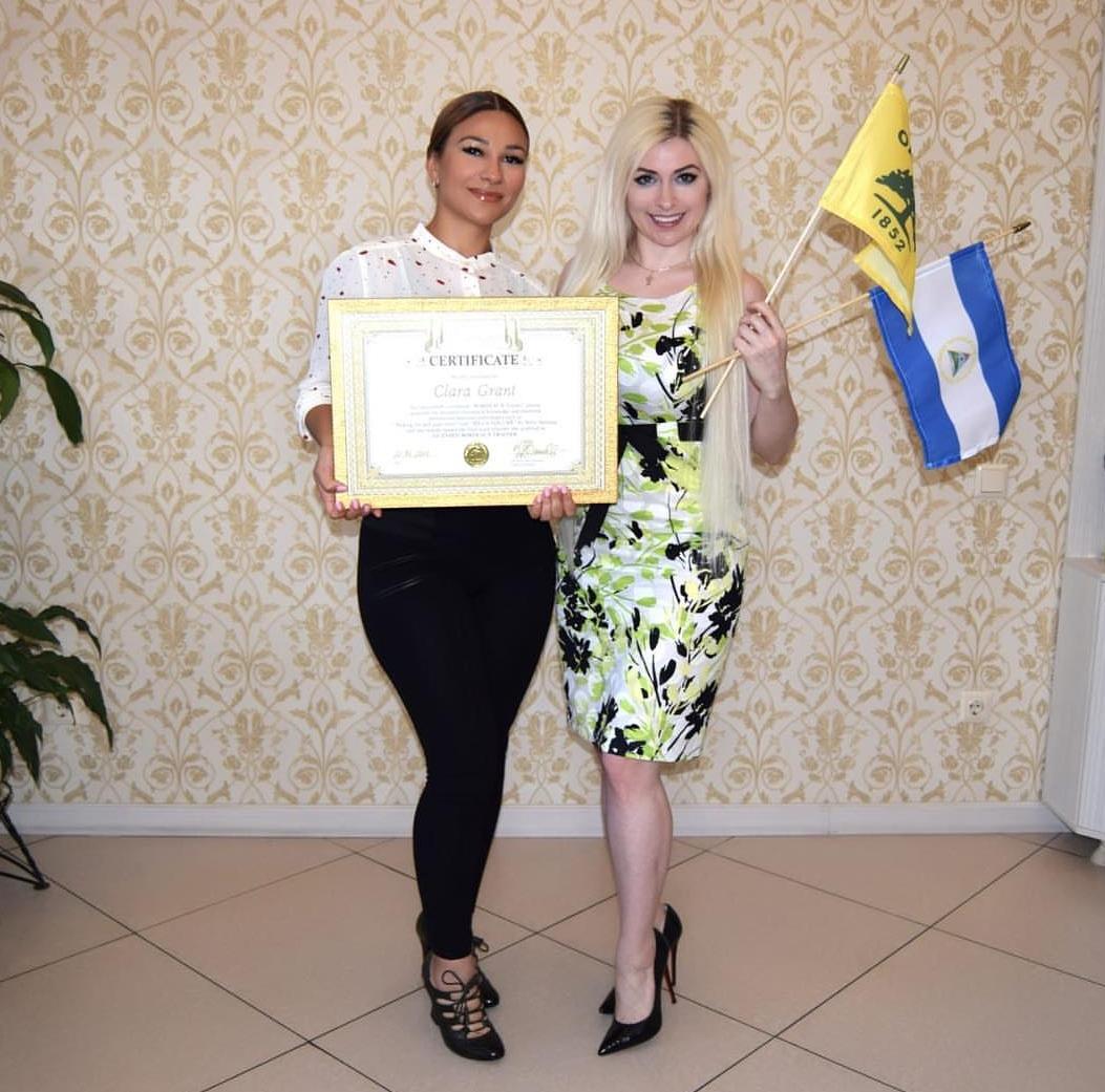 - Clara getting Bordeaux Certified in Kazakhstan