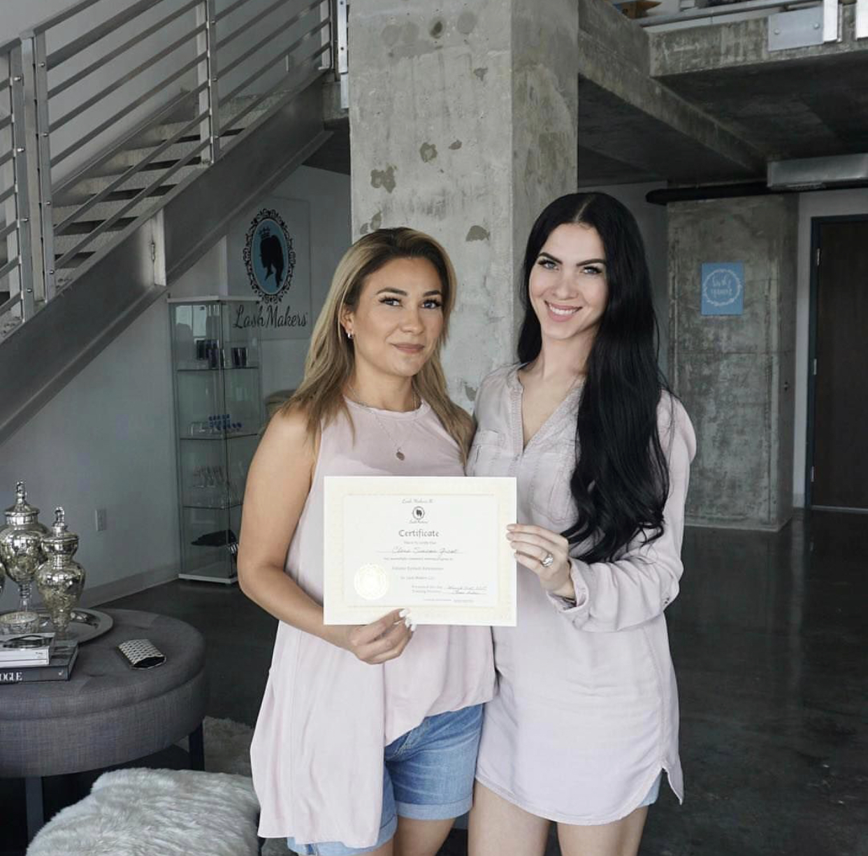 - Clara getting Lashmakers certified in Miami