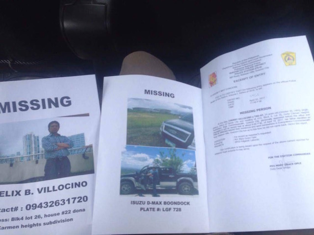 MISSING. Expelled INC member Felix Villocino, who used to deliver supplies to Angel Manalo's family, was last seen on April 19. Photo from Rhoda Villocino