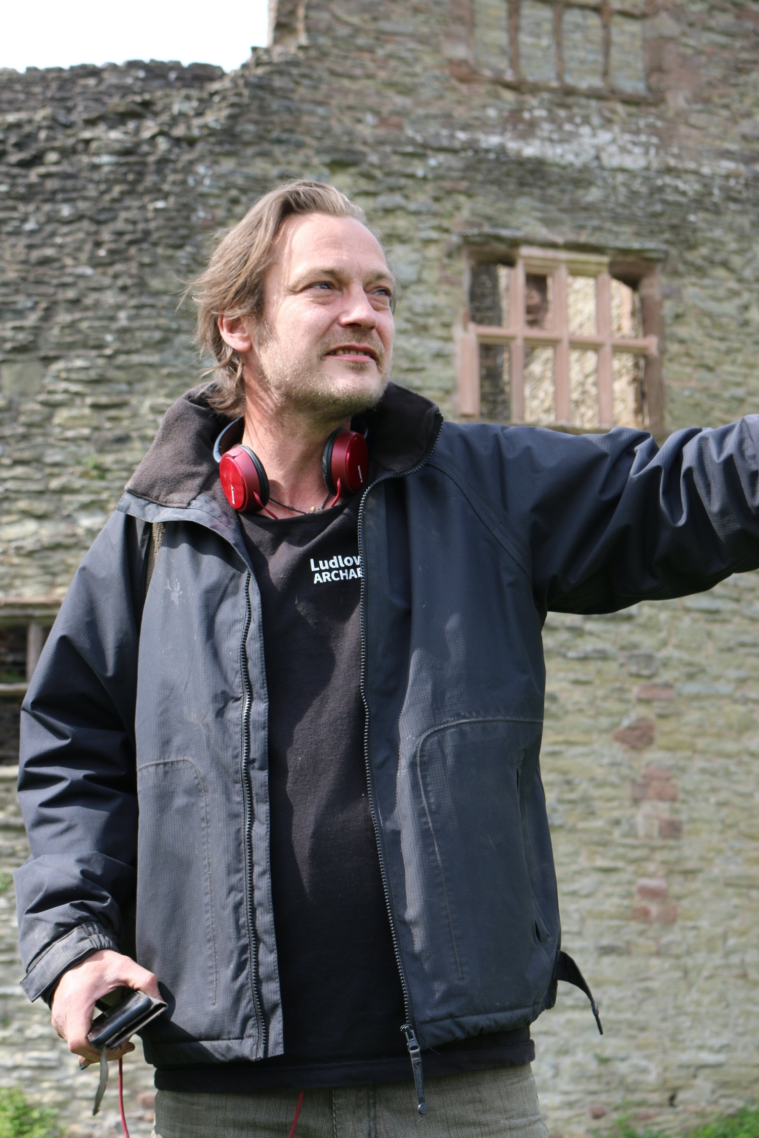 Leon Bracelin, resident archaeologist and guide at Ludlow Castle