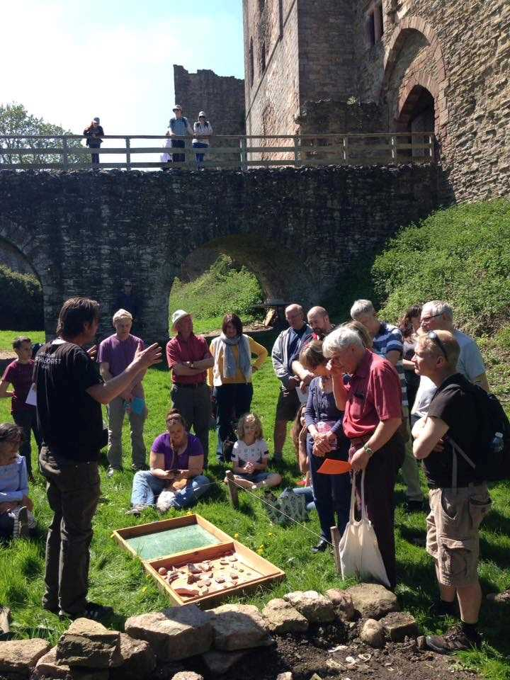 Leon giving a talk at Ludlow Castle