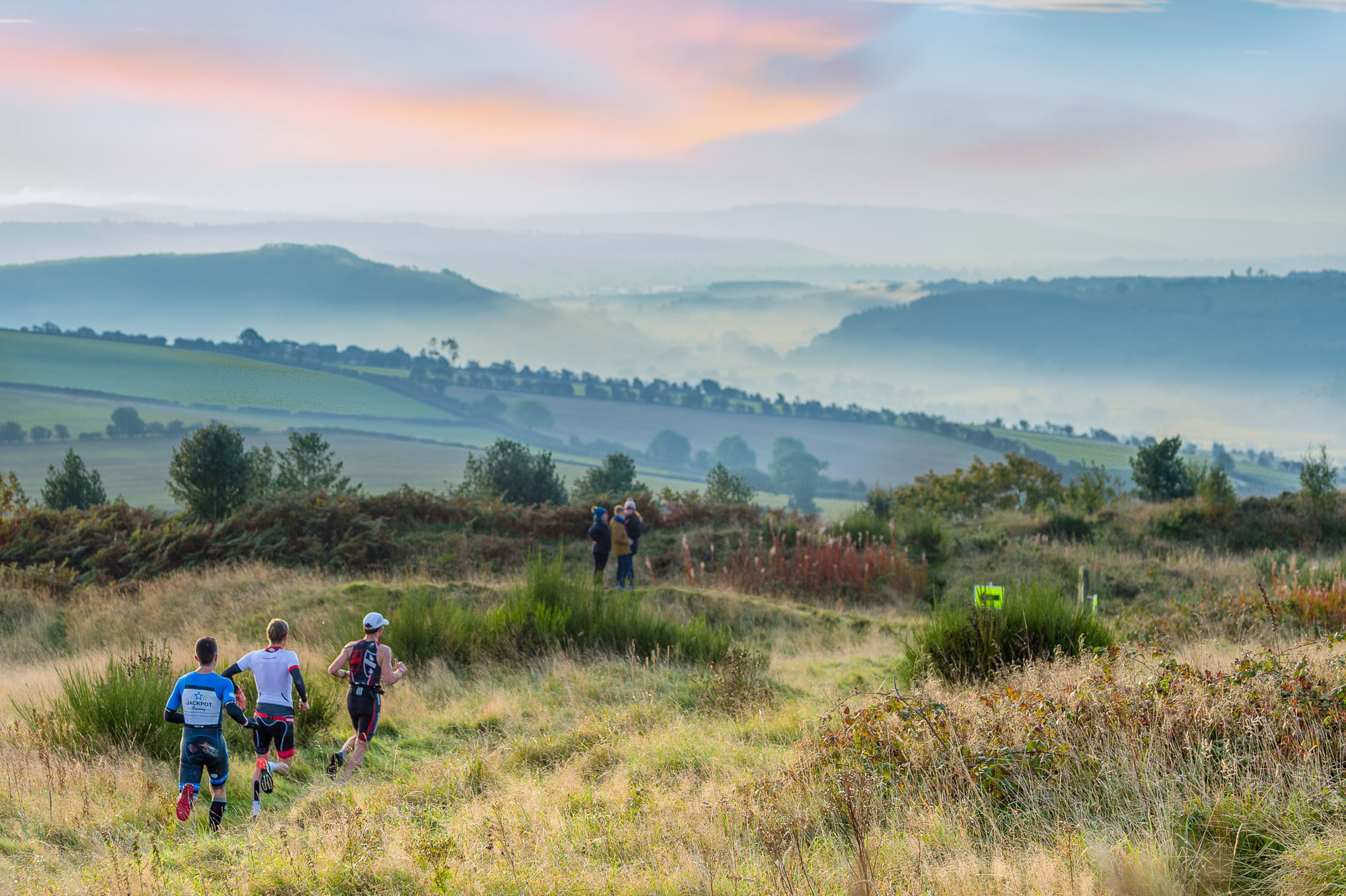 Spectacular views over the Clun Valley at Storm the Fort Source: Be Endurance