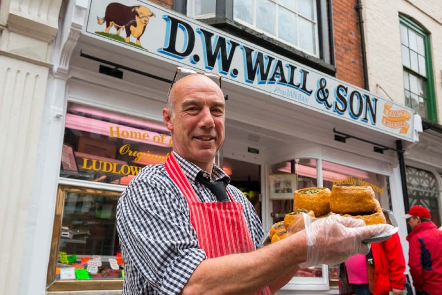 Local butchers, D W Wall & Son Photo credit: Ludlow Food