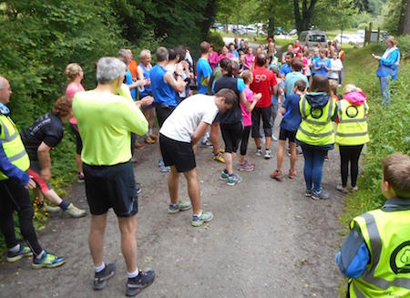 On your marks… Photo credit: Ludlow Park Run