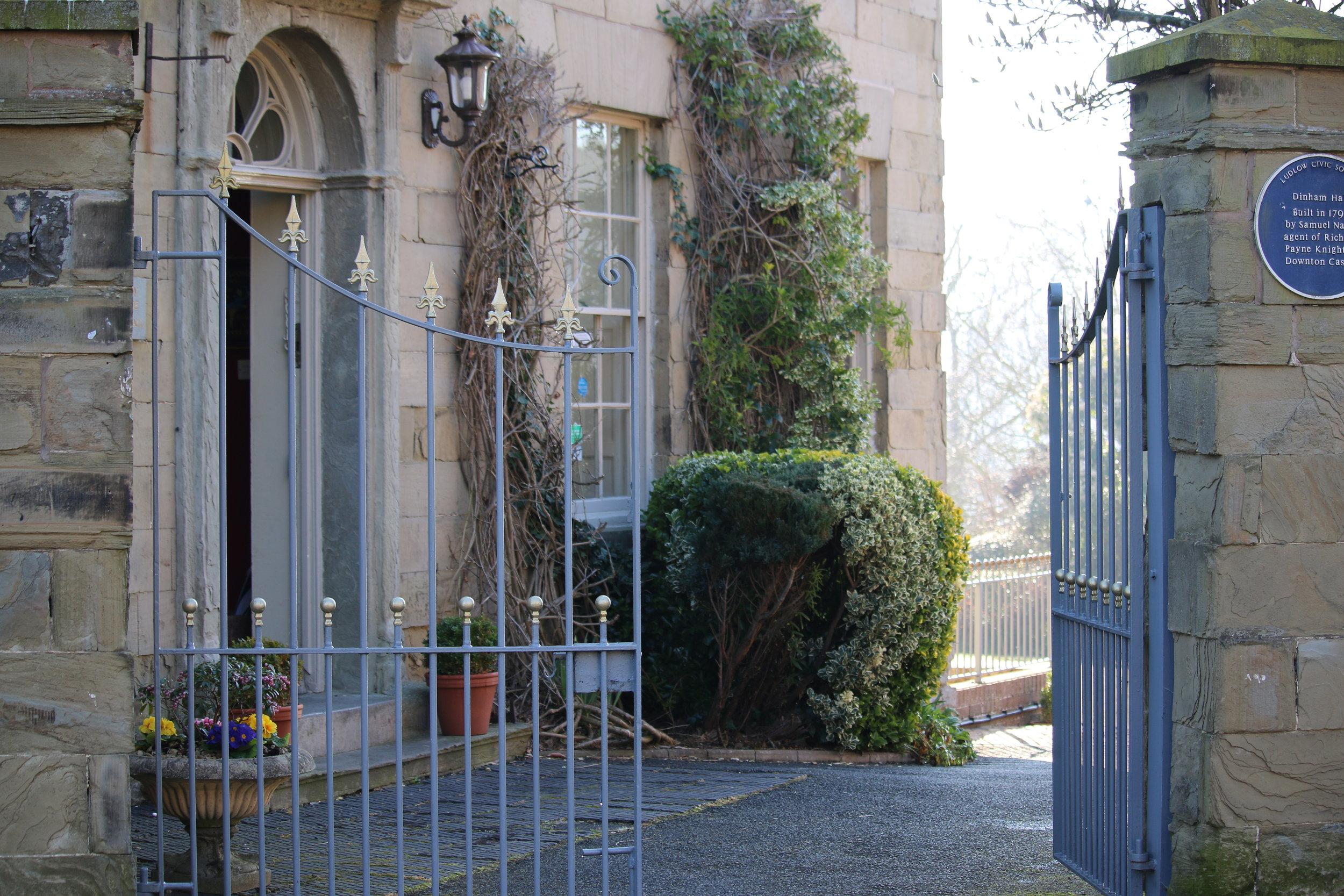 The elegant Georgian entrance to Dinham Hall Hotel