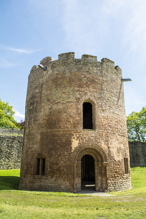 Ludlow Castle has one of five existing Round Chapels in Europe. A new roof ensures its around for future generations to enjoy. Source: Ludlow Castle