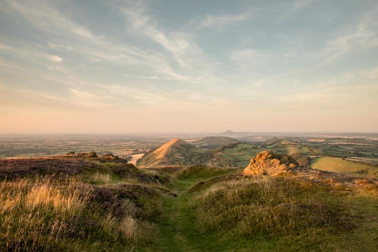 Enjoy breathtaking views from Caer Caradoc Photo Credit: Geoff Taylor