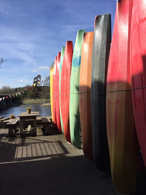 in living colour canoe or kayak hire at wye valley canoe centre