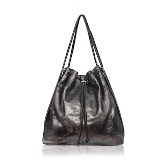 Owen Barry Leather Bag - £179.00 - Black one side and metallic the other, this bag changes from a shoulder bag to a rucksack when needed.