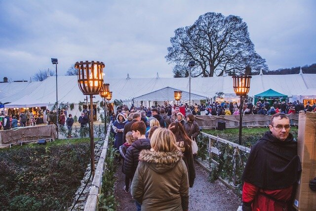 Christmas shopping at Ludlow's Medieval Christmas Fayre