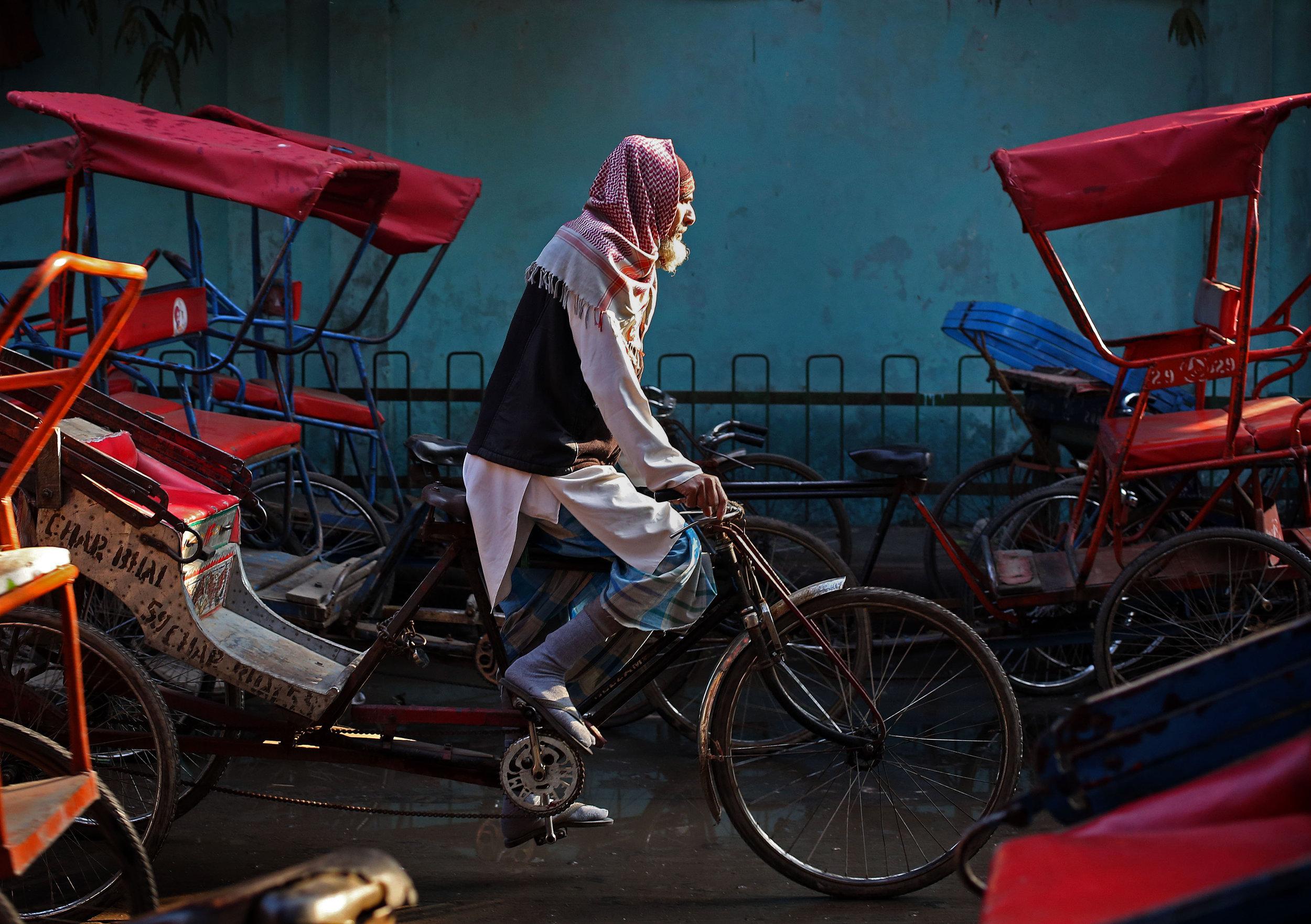 Old Delhi Rickshaw Wallah