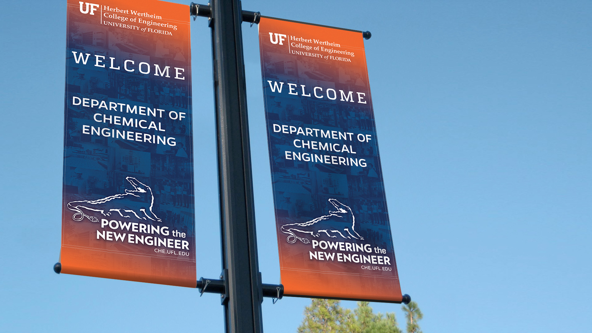 UF Banner Design Lamp Post_Wayfinding