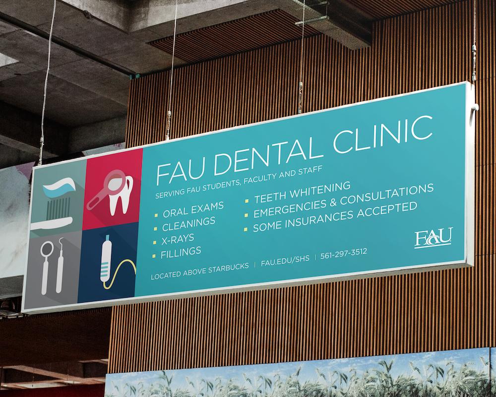 FAU Dental Clinic Campus Hanging Banner