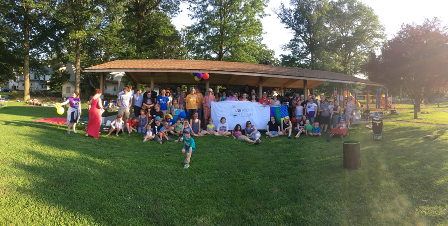 H-CAN organized the first Havertown pride picnic on June 10, 2017.