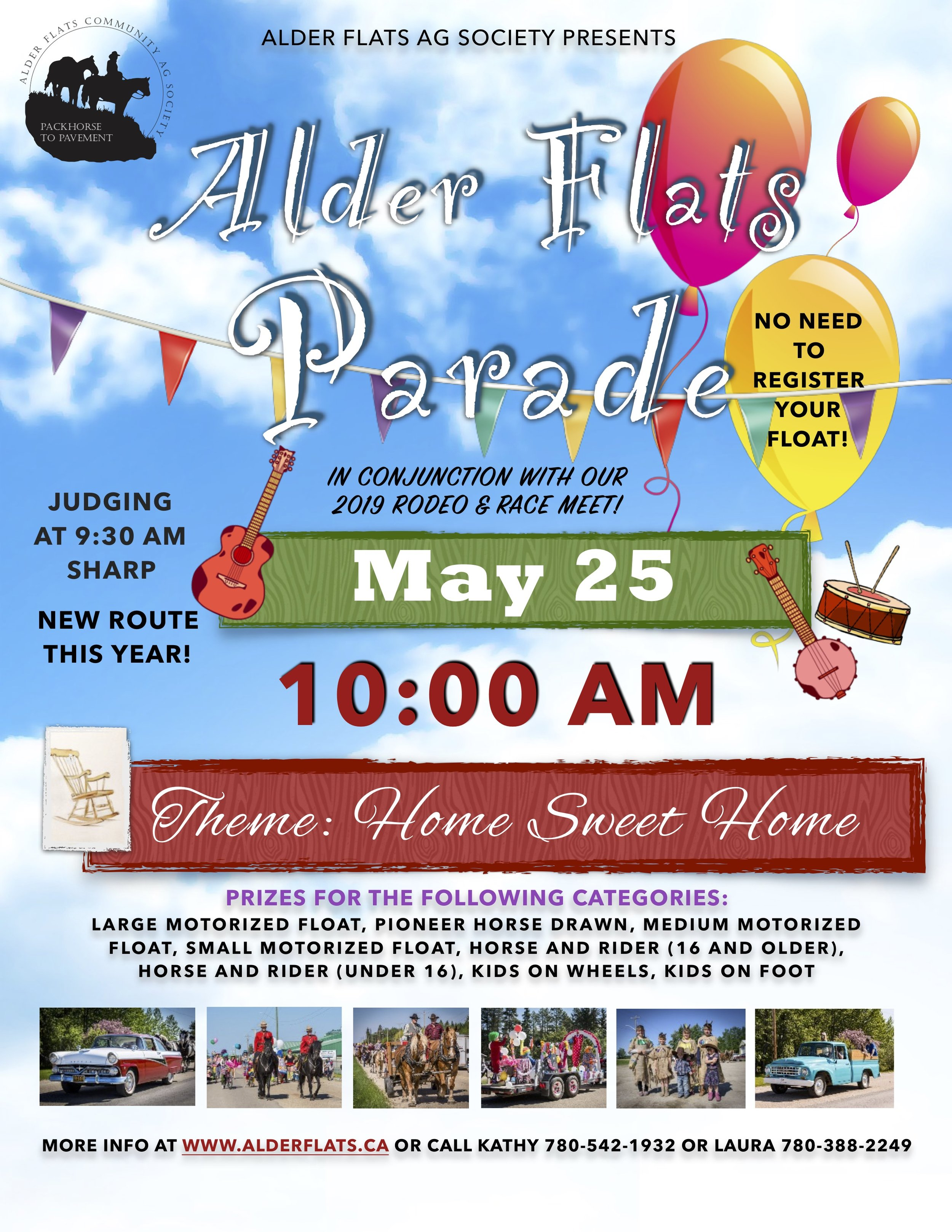 ENTER THE PARADE!  NO NEED TO PREREGISTER YOUR FLOAT.  JUST SHOW UP ON MAY 25 BEFORE 9:30 AM AT THE STAGING AREA WHICH WILL BE POSTED ON OUR WEBSITE AND FACEBOOK PAGE BY MAY 15.