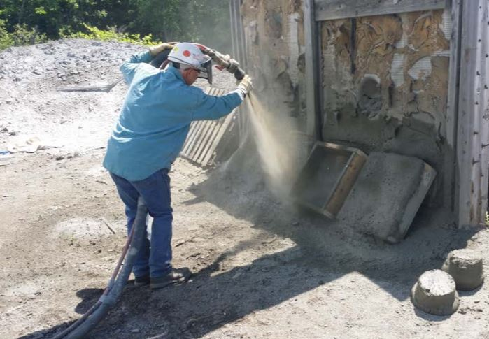Air Entrained Shotcrete Application