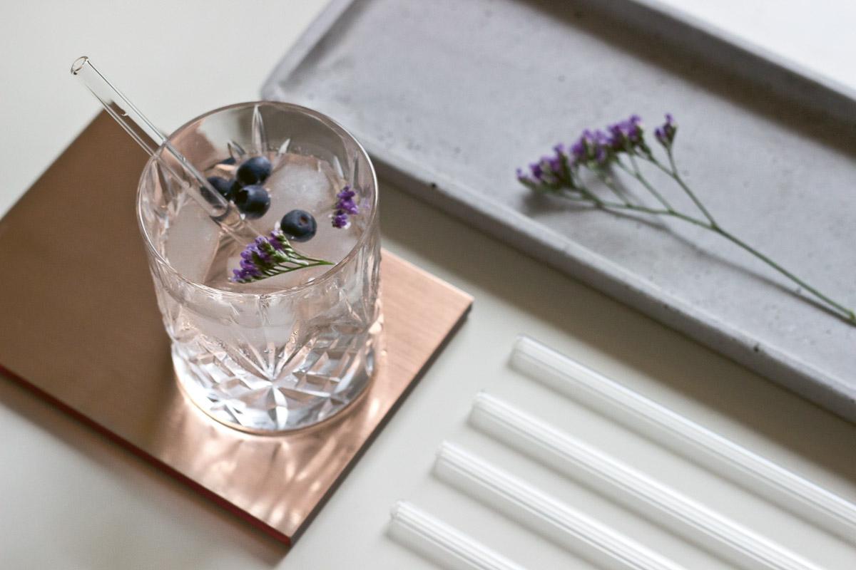 Smarte Halme: Neben stylischer Flaschen hat Doli auch Glasstrohhalme in unterschiedlichen Längen im Angebot.