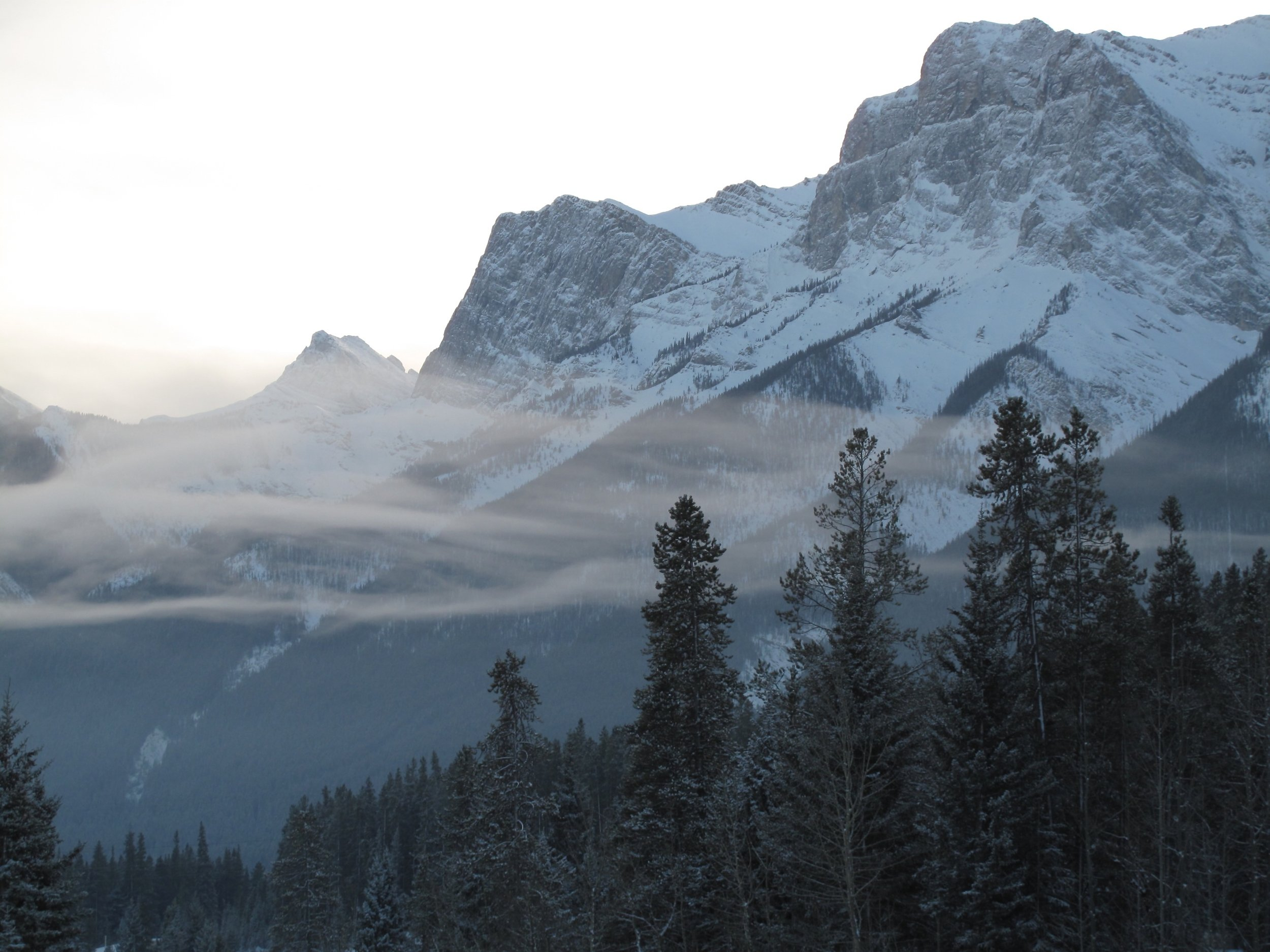 Midday, midwinter, just outside Canmore.