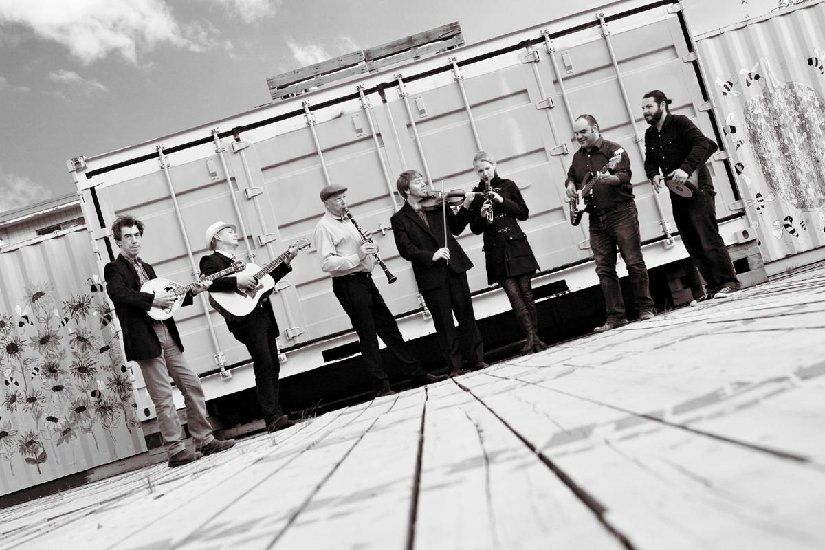 left to right: Nick Diochnos, Allen Baekeland, Lincoln Frey, Jonathan Lewis, Racheal Cogan, George Iosifelis, Jon May.