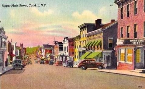 vintage postcard of Catskill, NY
